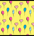 hand drawn vintage set of bright balloons vector image