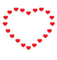 heart on white background heart sign valentine vector image vector image