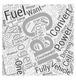 How Hydrogen Fuel for Cars Work Word Cloud Concept vector image vector image