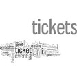 how to make great tickets vector image vector image