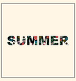 Inscription summer with floral pattern vector image vector image