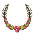 laurel wreath icon cartoon style vector image vector image