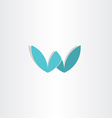 letter w stylized logo design vector image vector image