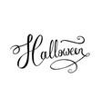 lettering word halloween vector image vector image