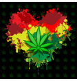 Love marijuana vector image