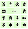 medal icons vector image vector image