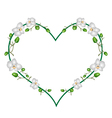 Moon Orchids Flowers in A Heart Shape vector image vector image