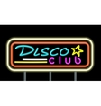 Neon Signboard Disco Club Design vector image
