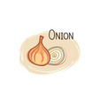 onion icon half and full slice isolated vector image