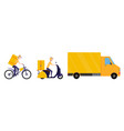 online delivery service concept collection vector image