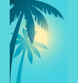 palm trees with sunlight background vector image