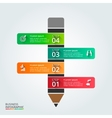 pencil for infographic vector image