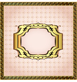 pink background framed with pearls vector image vector image