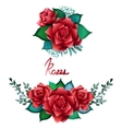 Red roses vignette collection vector image
