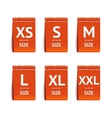 Red Size Clothing Labels Set vector image vector image