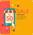 sale in cartoon style with vector image vector image