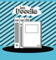 school doodle cartoon vector image vector image