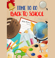 school time and education season poster vector image vector image