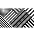seamless abstract pattern with black white vector image vector image