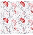 Seamless pattern with delicate intertwining stems vector image vector image