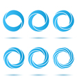 Segmented o letter set vector image vector image