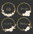set of dividers round frames hand drawn flowers vector image vector image