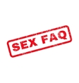 Sex FAQ Rubber Stamp vector image vector image