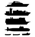 ships and boats black silhouettes vector image