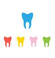 silhouette teeth vector image
