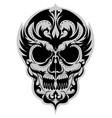 skull black vector image vector image