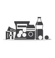 snack product set in monochrome color fast food vector image vector image