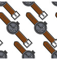 swiss symbol watch or wrist clock dial and belt vector image