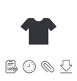 t-shirt sign icon clothes symbol vector image vector image