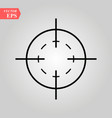 target icon in trendy flat style isolated on white vector image