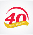 Template Logo 40 Anniversary vector image vector image