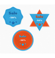 three different sale labels vector image vector image