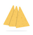 three slices cheese vector image vector image