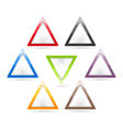 Triangle Signs vector image vector image