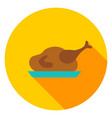 turkey dinner circle icon vector image vector image