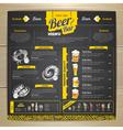 Vintage chalk drawing beer menu design vector image vector image