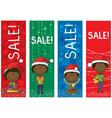 Christmas sale banners vector image