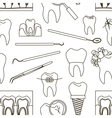 Dental tooth icons pattern vector image