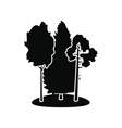 Forest black simple icon vector image