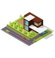 isometric house in the Scandinavian style vector image