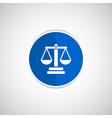 justice icon symbol measurement balance vector image