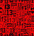 magic unlucky number thirteen typographical vector image