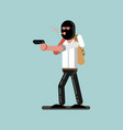 robber in mask vector image