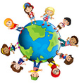 Children from different countries of the world vector image