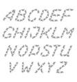 english black alphabet vector image