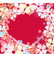 abstract valentine vector image vector image